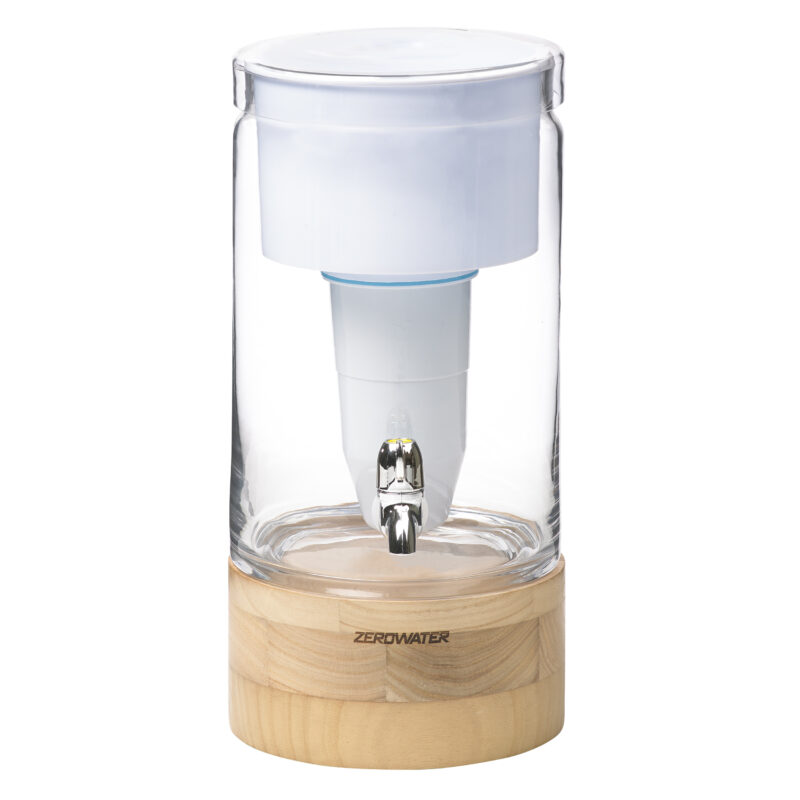 ZeroWater - 5,4 liter glazen filtersysteem met gratis filter en TDS meter