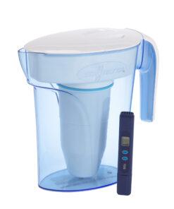 ZeroWater-1,4 Liter Wasserkrug mit kostenlosem Filter und TDS-Messgerät